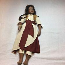 "Moesha 30"" Porcelain Pretty Black Girl Doll Linda Murray 2002 Paradise Galleries"