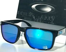NEW* Oakley Holbrook XL Black w POLARIZED Galaxy Blue Iridium Sunglass 9417