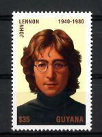 John Lennon Guyana 1940-1980 sellos stamps music