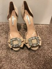Authentic Oscar De La Renta Ivory Satin Bridal Shoes