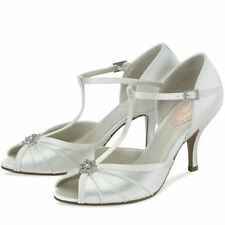 Mid Heel (1.5-3 in.) Peep Toes PINK Bridal Shoes