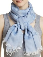AQUA CAMO STRIPED OBLONG SCARF BLUE O/S 100% COTTON