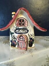 """Heather Goldminc by Blue Sky Clayworks """"Welcome"""" Tealight Candle Cottage"""