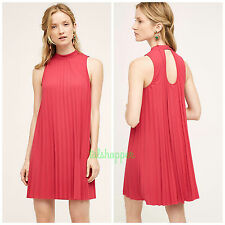 Anthropologie Plenty by Tracy Reese Seaglass Swing Dress L Large Rose NEW $198