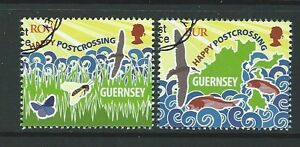 GUERNSEY 2016 POSTCROSSING SET OF 2 FINE USED