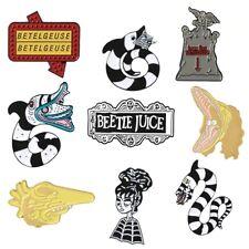 Beetlejuice Lydia Sandworm Gothic Enamel Pin Badges Tim Burton + Free Gift Bag