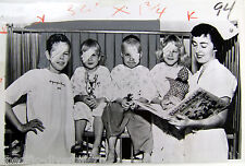 1953 Medical AP Wire Photo EYE Surgery Vintage Fifties Opthalmology Cataract KID