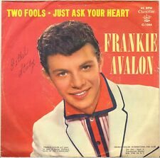 """FRANKIE AVALON """"JUST ASK YOUR HEART"""" 60'S SP CHANCELLOR C-1040"""