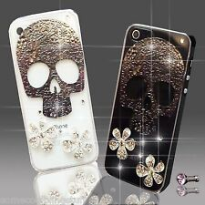NEW SKULL FLOWER DIAMOND MOBILE CASE COVER SAMSUNG iPHONE SONY HTC 4S 5 5S S6 S5