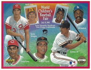 Sadaharu Oh Sachio Kinugasa 1993 Upper Deck Heroes of Baseball 8.5x11 Photo Card