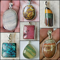 BEAUTIFULLY DESIGNED DIFFERENT GEMSTONES PENDANTS IN 925 SOLID STERLING SILVER