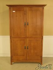 29375: STICKLEY Mission Oak Arts & Crafts TV Armoire