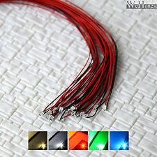 12pcs précâblé 0805 SMD Led pré-câblé blanc chaud froid rouge bleu vert pre wire