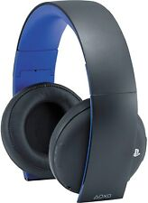 Sony PlayStation Gold Wireless Headset Jet Black for PS4/PS3/PC/MAC