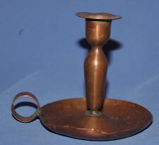 VINTAGE HAND MADE COPPER CANDLESTICK WITH TRAY