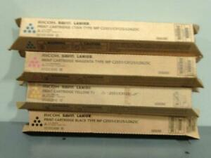Genuine Ricoh Savin Lanier Print Cartridges MP C2551/C9125/LD625C CMYK Set