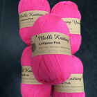 knitting wool 5 x 100g acrylic yarn 8ply bulk buy several colours to choose