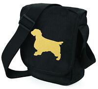 Springer Spaniel Shoulder Bags Metallic Gold / Silver on Black Bag Xmas Gift