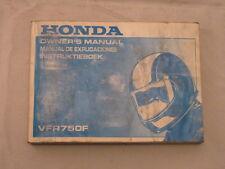 HONDA VFR750 1989 OWNERS MANUAL MANUAL DE EXPLICACIONES INSTRUKTIEBOEK