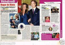 Coupure de presse Clipping 2012 (1 page 1/3 ) Bague de Diana lady Di