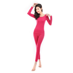 Women's 100% merino wool top bottom thermal warm base layer underwear set 230gsm