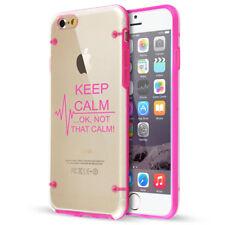 For Apple iPhone Clear TPU Hard Case Keep Calm Ok Not That Calm Nurse Paramedic