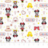 Disney Mickey Mouse & Friend Minnie white Camelot 100% cotton fabric by the yard