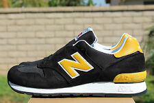 NEW BALANCE 670 M670SMK SZ 9 BLACK YELLOW MADE IN ENGLAND UK