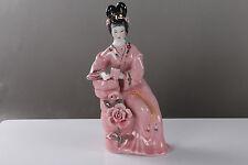 NEW Exquisite hand carved colour enamels beautiful woman porcelain statue