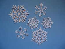 SNOWFLAKE DIE CUT EMBELLISHMENT X6 LARGER SIZE FLURRY SNOW WINTER SNOWFLAKES