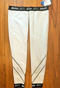 Santini Thermofleece Leg Warmers in White - Size XS