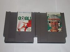 Nintendo NES Lot of 2 Games - Goal, Quarterback