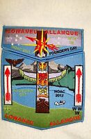 OA LOWANEU ALLANQUE 41 3 FIRES 2-PATCH N STAR TOTEM FOUNDERS DAY 2012 NOAC FLAP