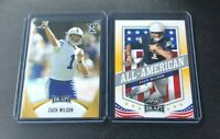 2021 Leaf Draft Zac Wilson GOLD PARALLEL Rookie & All American 2 Card Lot