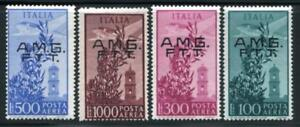 ITALY-TRIESTE C13-16 MINT NH, AIR MAIL1948 TYPE F