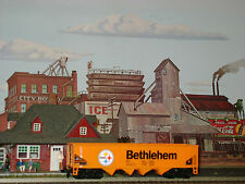 Tyco * Bethlehem Steel * 4 Bay 40' Hopper * Ho Scale Trains *mint*