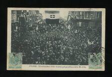 Italy FIUME 1918 Corteo pel genetliaco di S.M. Il Re Kings Birthday used 1920PPC
