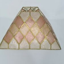 Tiffany Style Ceiling Light Shade Pyramid Shell Pink Cream