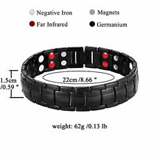 Jeracol Magnetic Bracelets for Men Double Strength Magnets Therapy Wristband for