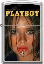 Zippo Playboy February 1977 Cover Satin Chrome Windproof Lighter NEW RARE
