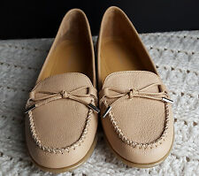 Women's Flats Moccasins Royce Tan Leather Shoe Comfortview Size Choice