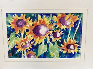 "Roungsri Taw Raisanen LTD Edition Lithograph 16X22"" Sunflower Blossom Signed"