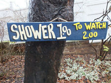 SHOWERS1.00 TO WATCH 2.00 - POOL PATIO YACHT BOAT TIKI HUT BAR SIGN PLAQUE