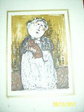 G. RODO BOULANGER - Original Lithographed Cat woman rare print nice VERY RARE