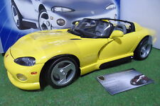 DODGE VIPER RT/10 Cabriolet jaune 1/12 ANSON 30318 voiture miniature collection