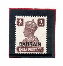 Bahrain GV1 1942-45, 4a brown sg 47 VLH.Mint