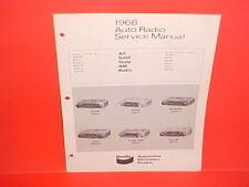 1968 VOLVO TRIUMPH SAAB SUNBEAM SIMCA KAISER JEEP BENDIX AM RADIO SERVICE MANUAL