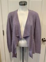 Eileen Fisher Light Purple Open Front Cardigan Sweater, Size XS