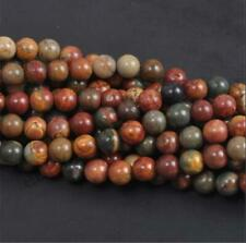 Natural Gemstone Round Spacer Loose Beads 4MM 10PC 080