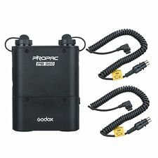Godox PB960 Dual outputs Flash Power Battery Pack 4500mAh +2 x Cable For Canon